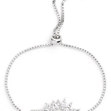 CZ by Kenneth Jay Lane 'Explosion' Adjustable Cubic Zirconia Bracelet | Nordstrom