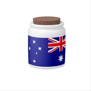 Australian Flag Candy Jar