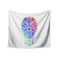 "Monika Strigel ""Rainbow Lion"" Wall Tapestry"