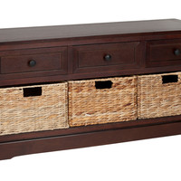 Arlington 3-Drawer Storage Unit, Cherry, Bedroom Bench