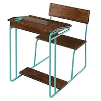 Modern Schoolhouse Desk (Aqua) in Desks | The Land of Nod