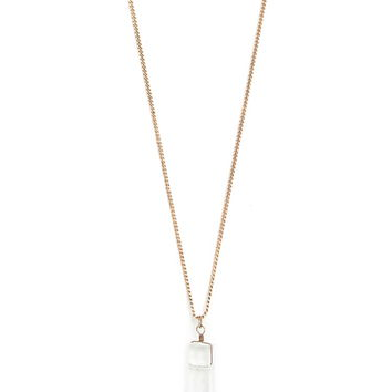 Faux Crystal Necklace | Forever 21 - 1000178012