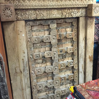 Indian Haveli Doors Furniture Antique Old World Vastu Door With Frame-Maharaja Door