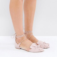 ASOS LOTTERY Knotted Ballet Flats at asos.com