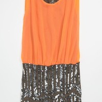 Flowers by Zoe Sequin Skirt Dress (Big Girls) | Nordstrom