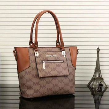 DCCKN7K MICHAEL KORS MK Women Shopping Leather Handbag Tote Satchel Shoulder Bag HZ