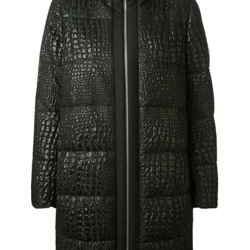 Moncler Gamme Rouge crocodile print padded jacket