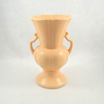 Vintage Rumrill Tall Light Pink Trophy Vase from 1930s