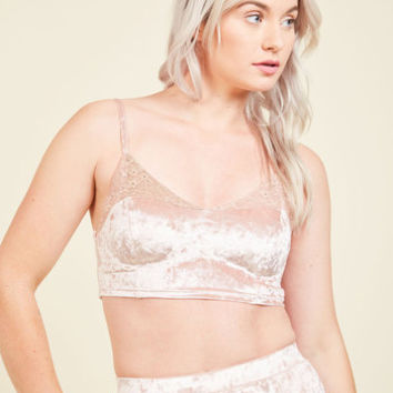 Velour Allure Bralette