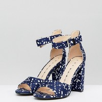 The March Spot Block Heeled Sandals at asos.com