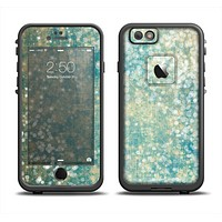 The Unfocused Green & White Drop Surface Apple iPhone 6 LifeProof Fre Case Skin Set
