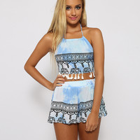 Elephant Printed Strappy Top and Pant