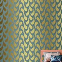 CHAINMAIL Tight Weave Pattern Modern Wall by OliveLeafStencils