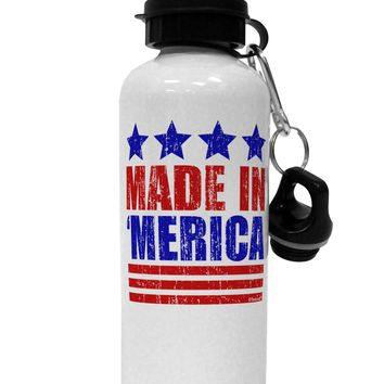 Made in Merica - Stars and Stripes Color Design Aluminum 600ml Water Bottle