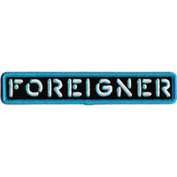 Foreigner Men's Logo Embroidered Patch Turquoise
