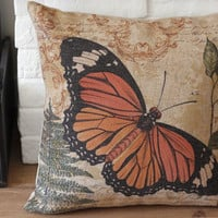 Throw Pillow Cover / Butterfly Design Decorative by soul8soul