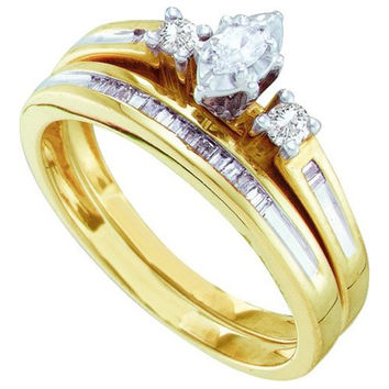Diamond Bridal Set in 14k Gold 0.25 ctw