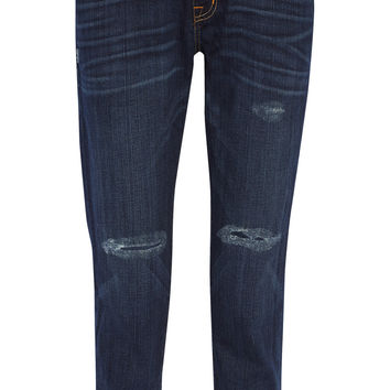 Current/Elliott The Fling distressed mid-rise boyfriend jeans – 60% at THE OUTNET.COM