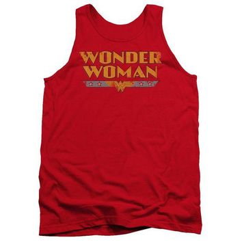 LMFDP2 Wonder Woman Logo Adult Tank