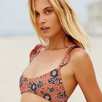 Free People Belize Ruffle Bikini Top