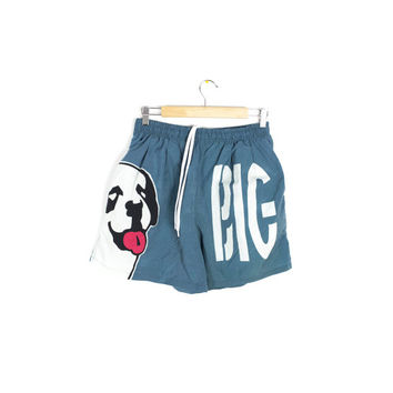 BIG DOGS shorts - vintage 90s - swim trunks - big logo