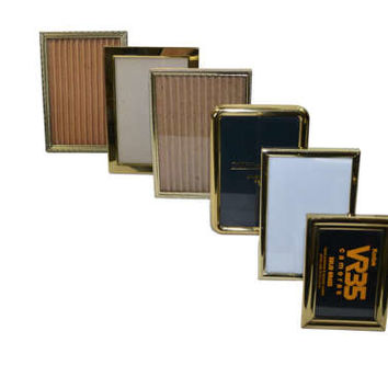 Vintage Brass Picture Frames Gold Picture Frames Brass Frames Wedding Picture Frames Set of 6