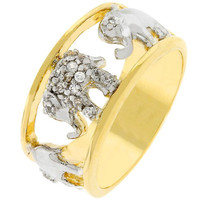 Pave Elephant Ring, size : 08