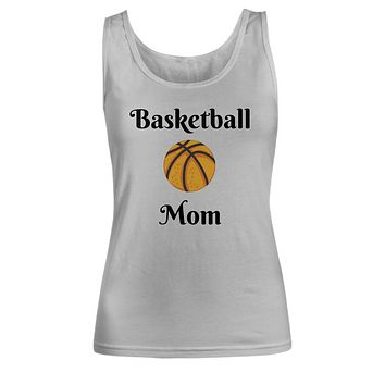 Basketball Mom T-Shirt Tee Top Novelty  Gifts For Moms Women  White Tank Top