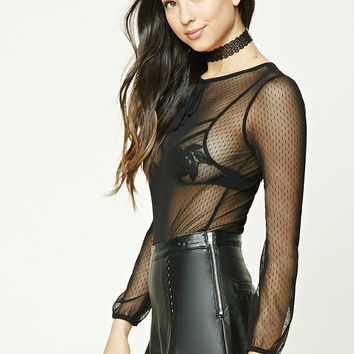 Sheer Dot Mesh Bodysuit