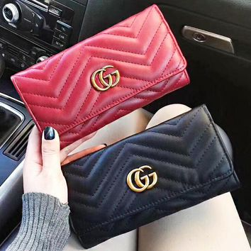 GUCCI New fashion leather wallet purse women clutch bag
