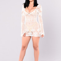 Zaneta Crochet Dress - Off White