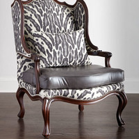 Massoud Zahara Leather Chair