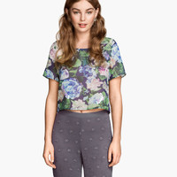 H&M Short Chiffon Top $24.95