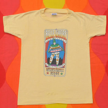 vintage 1988 t-shirt BELE CHERE asheville music festival clown 80s tee kids Large adult XS