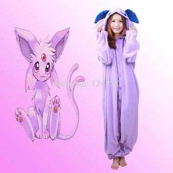 Fashion Party Pokemon Umbreon Espeon Costume Cosplay Pajama Pyjama Onesuits jumpsuit romper