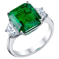 1STDIBS.COM Jewelry & Watches - Tiffany & Co - TIFFANY & CO 4.62 ct Emerald and Diamond Ring - Frank Giganti