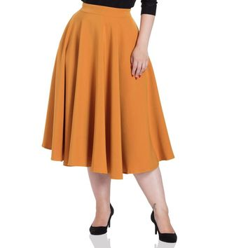 Sandy Mustard Circle Flair Skirt