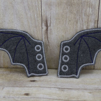 Bat Wing Shoe Wings - Shoe Charms - One Pair - Multiple Colors Available