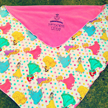 Disney Princess Inspired Fleece Baby/toddler-Kids Blanket -  tiara- Personalized