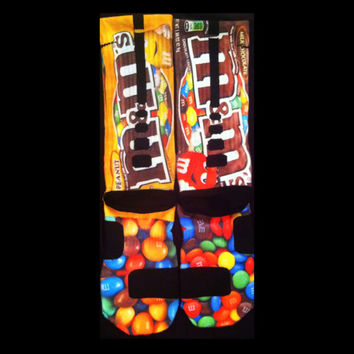 M&M's Parody Custom Nike Elite Socks