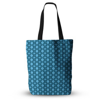 "Nandita Singh ""Floral Blue"" Aqua Pattern Everything Tote Bag"