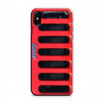 JEEP RED iPhone X Case