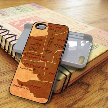 World Map Game Of Thrones iPhone 5C Case