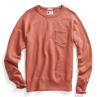 Pocket Sweatshirt in Coral