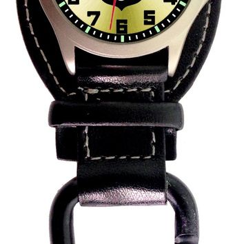 "Aqua Force Analog Police Shield ""Got Your 6"" Carabiner Watch w/ Optional Strap (30M water resistant)"