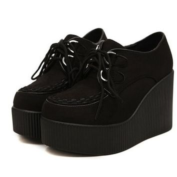 Anna&zero® Andrea Women's Punk Wedge Creepers Flats