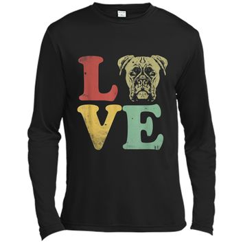 I Love My Boxer  - Gifts for Dog Lovers Long Sleeve Moisture Absorbing Shirt