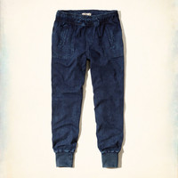 Hollister Denim Jogger Pants