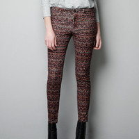 PRINTED NEEDLE CORD TROUSERS - Trousers - Woman - ZARA United States