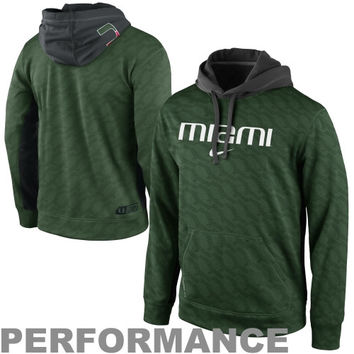 Nike Miami Hurricanes KO Performance Hoodie - Green